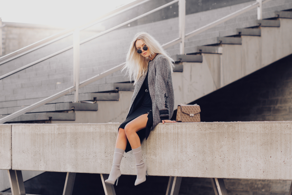 5f7c75d3c1b Dress & Coat - River Island Boots - Misspap/ HERE Bag - Guess/ Denim Dream  Sunglasses - Ray Ban