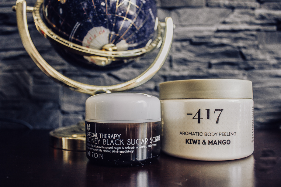 339f941813f 1. Mizon Honey Black Sugar Scrub - This scrub is a face scrub that smells  like Coca Cola. It might be a little intense to some, but I like it a lot!