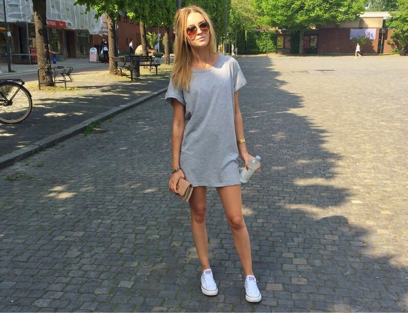 032b3e1fe34e Grey t-shirt dress..any questions  Haha okay I just love it so much. It is  so handy when you are not in the mood to put together an outfit and just  want to ...